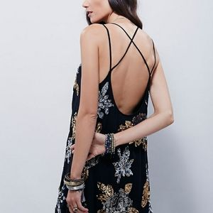 Free People Gilded Floral Dress